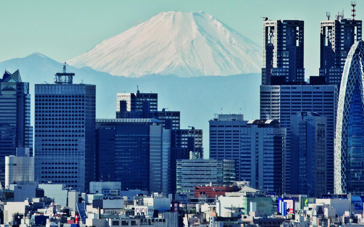 Fuji and Shinjuku skyline