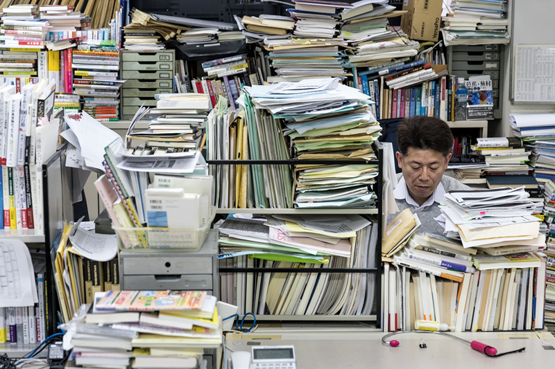 One day at the Chugoku Shimbun